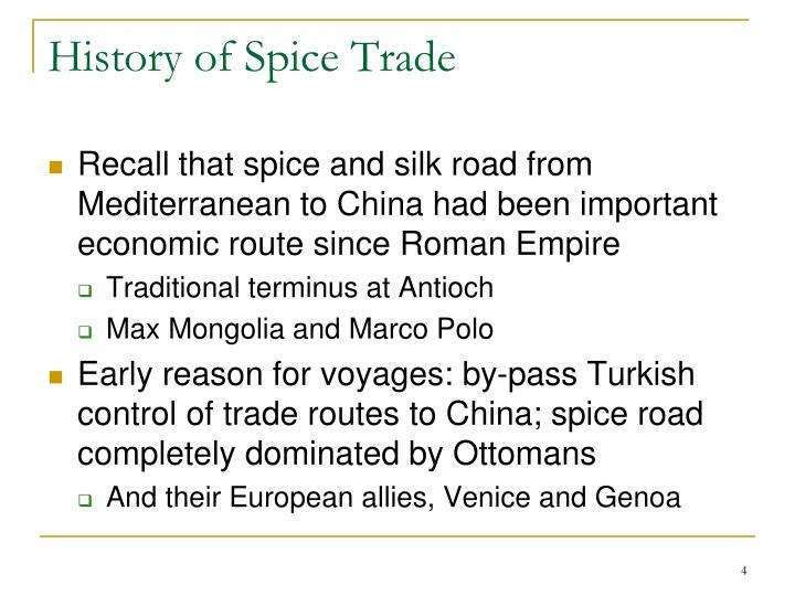 History of Spice Trade