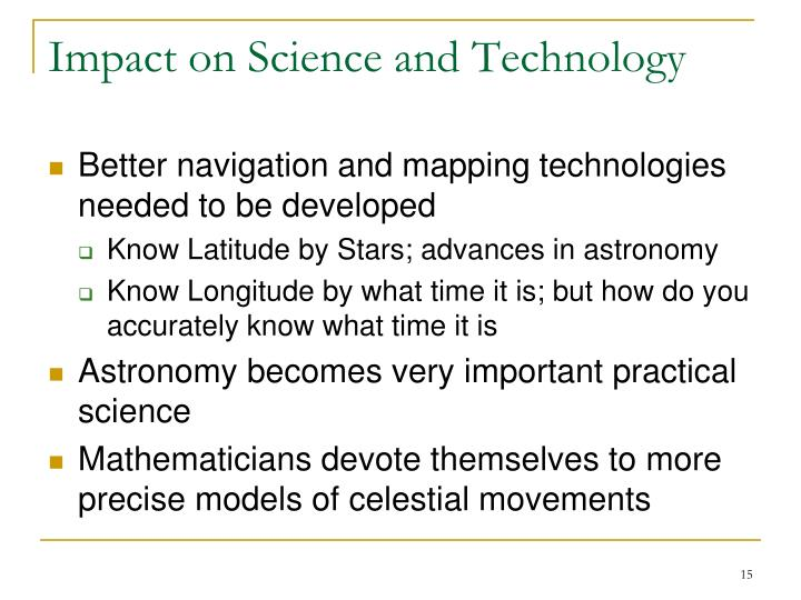Impact on Science and Technology
