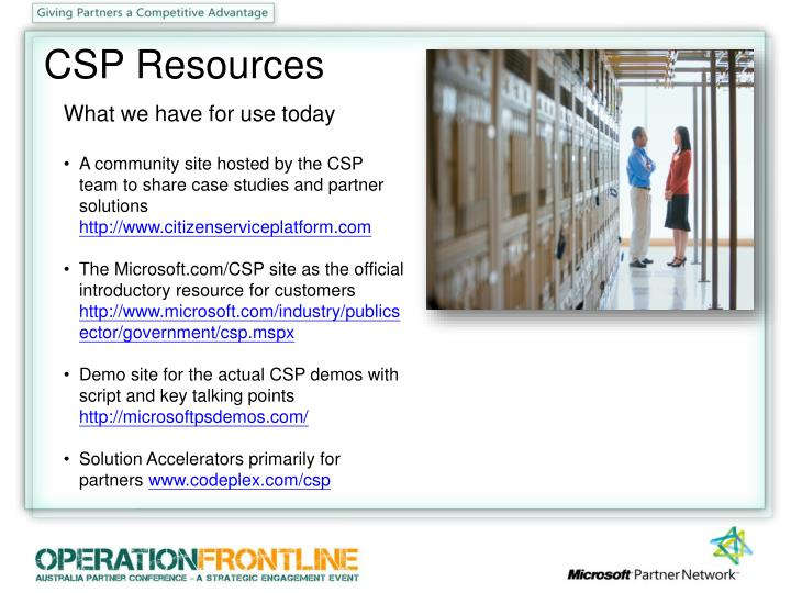 CSP Resources