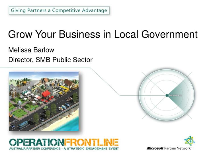Grow your business in local government