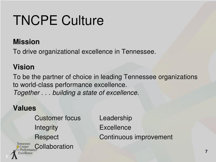 TNCPE Culture