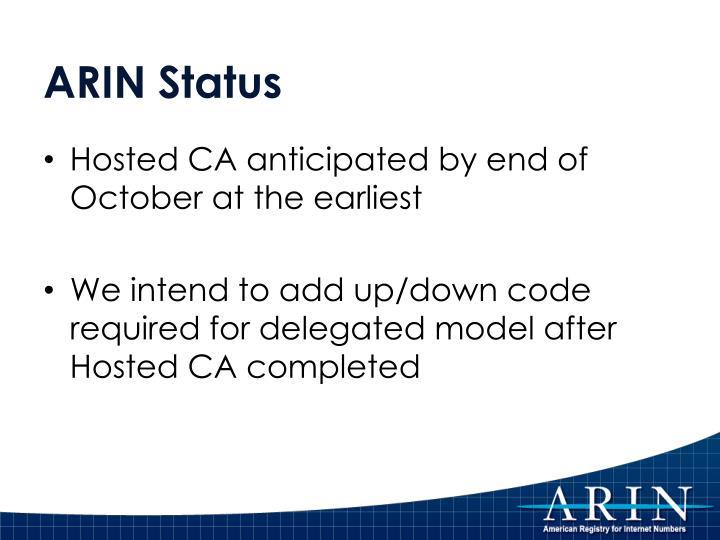 ARIN Status
