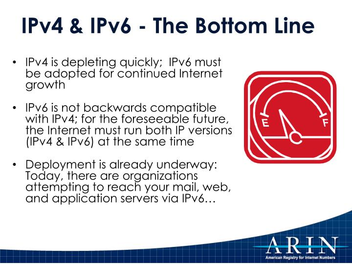 IPv4 is depleting quickly;