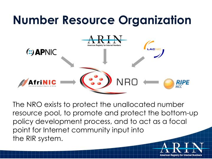 Number Resource Organization