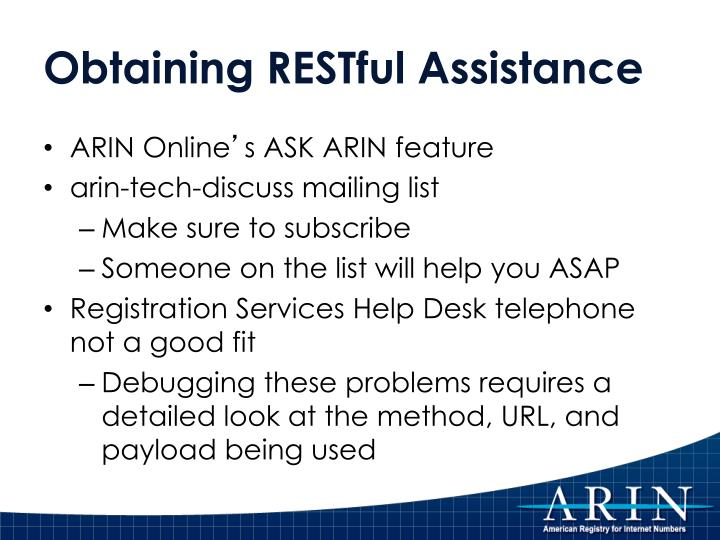 Obtaining RESTful Assistance