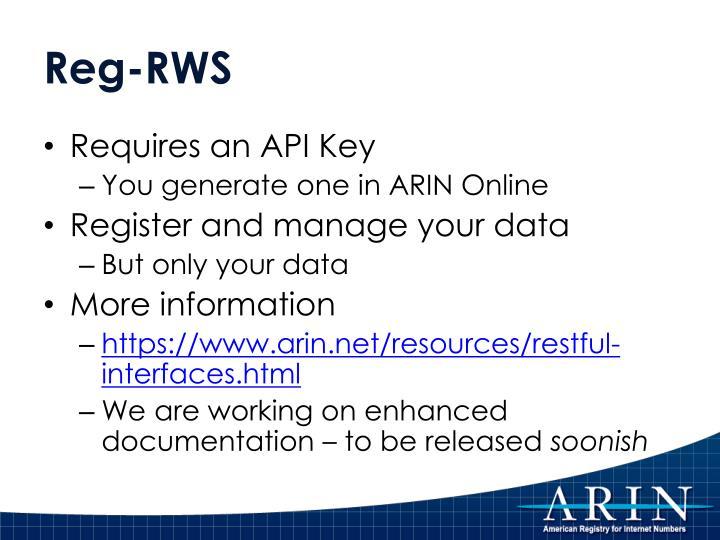 Reg-RWS