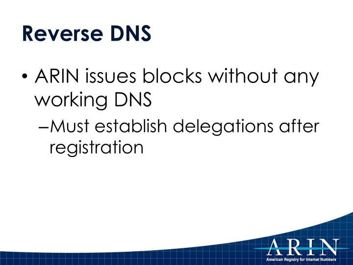 Reverse DNS