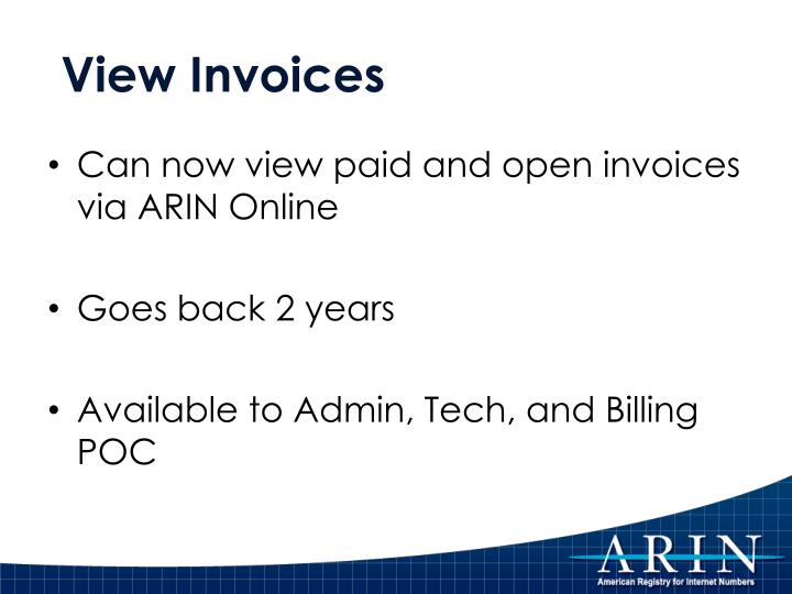 View Invoices