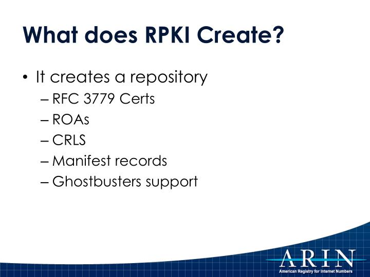 What does RPKI Create?