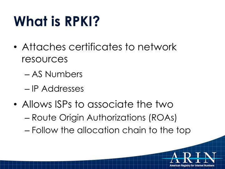 What is RPKI?