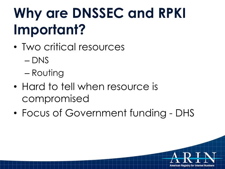 Why are DNSSEC and RPKI Important?