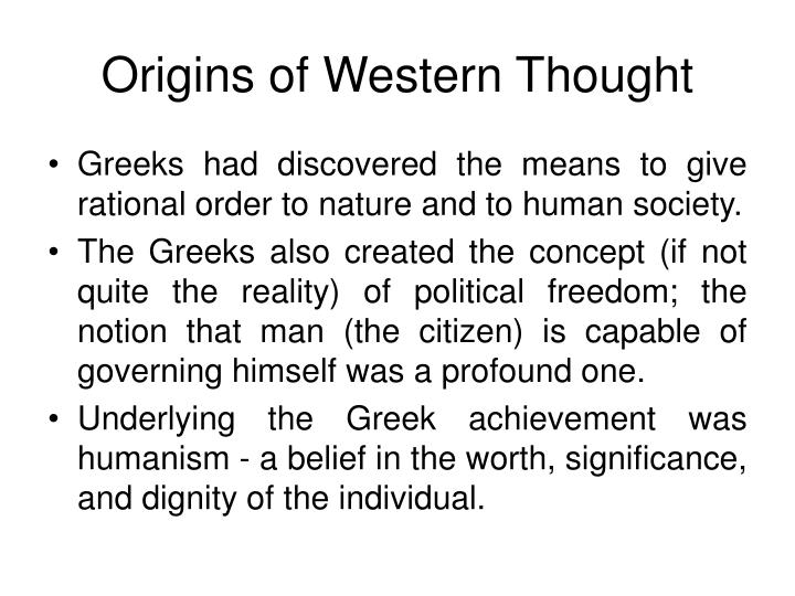 Origins of Western Thought