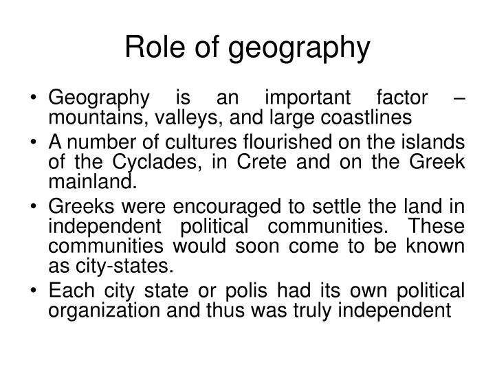 Role of geography