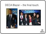 deca blazer the final touch