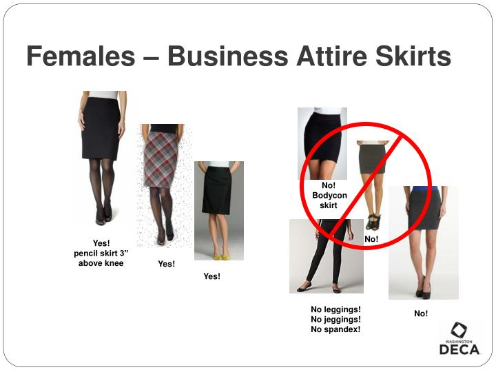 Females – Business Attire Skirts