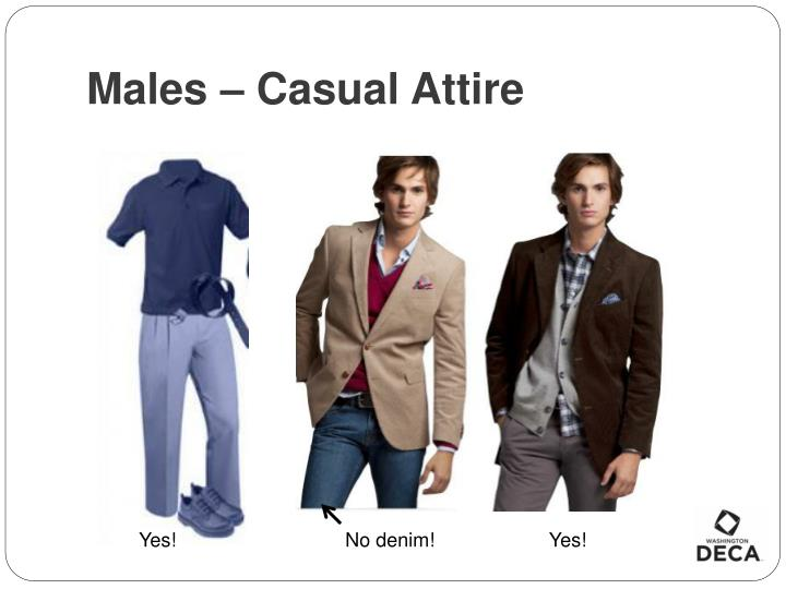 Males – Casual Attire