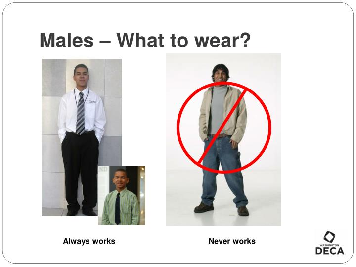 Males – What to wear?