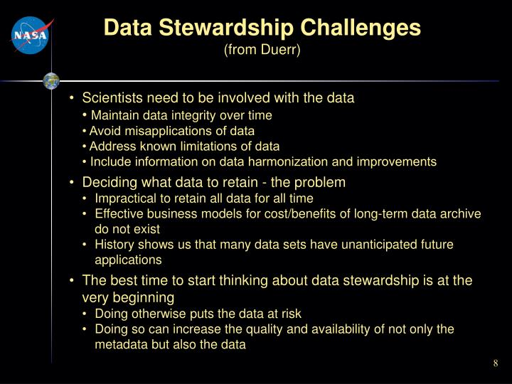 Data Stewardship Challenges