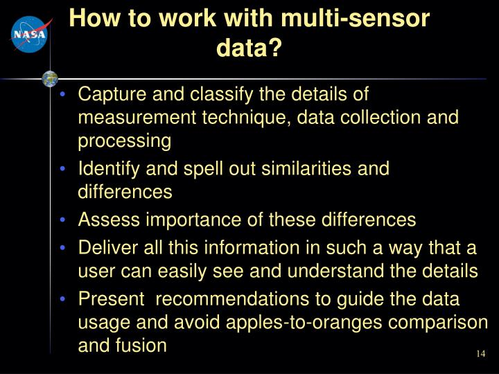 How to work with multi-sensor data?