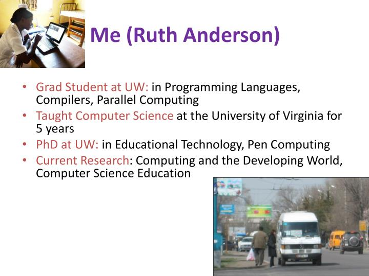 Me (Ruth Anderson)