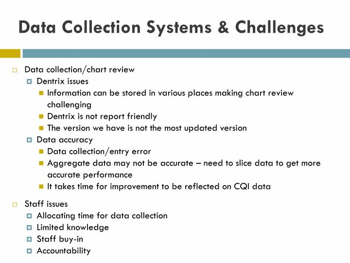 Data Collection Systems & Challenges