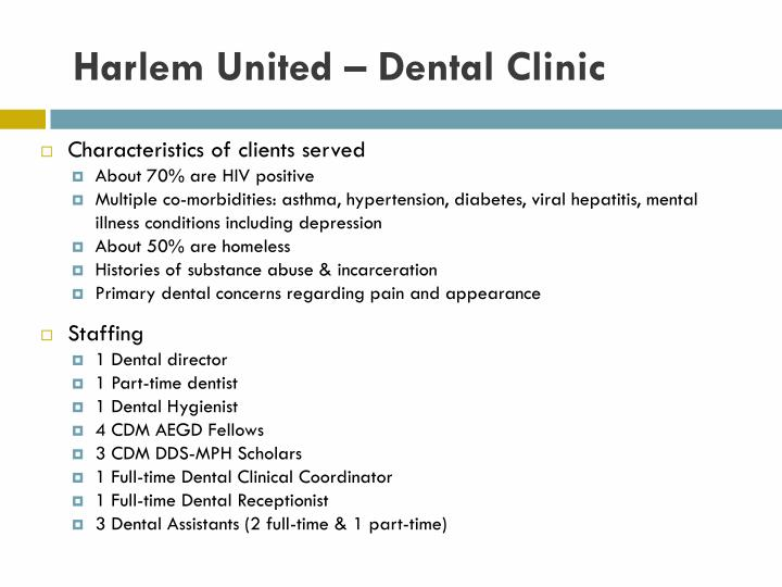 Harlem United – Dental Clinic