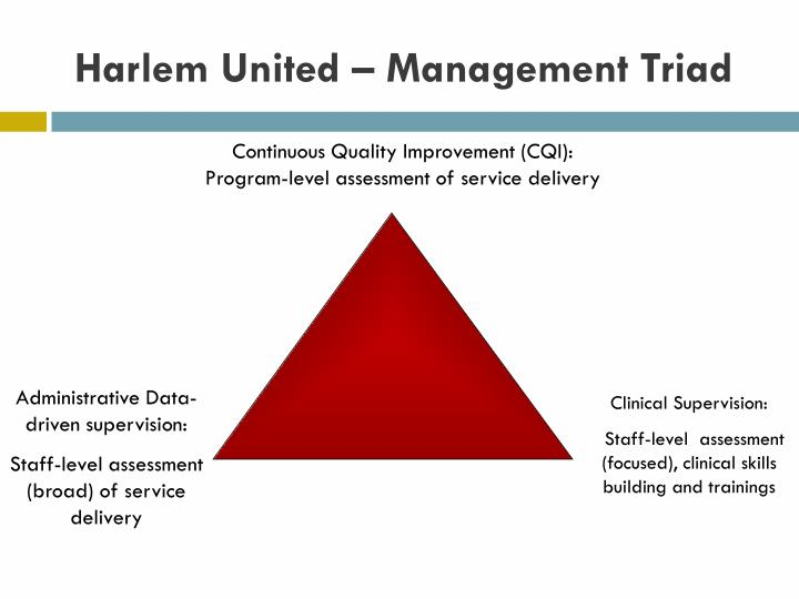 Harlem United – Management Triad