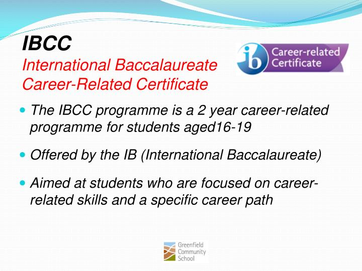 Ibcc international baccalaureate career related certificate