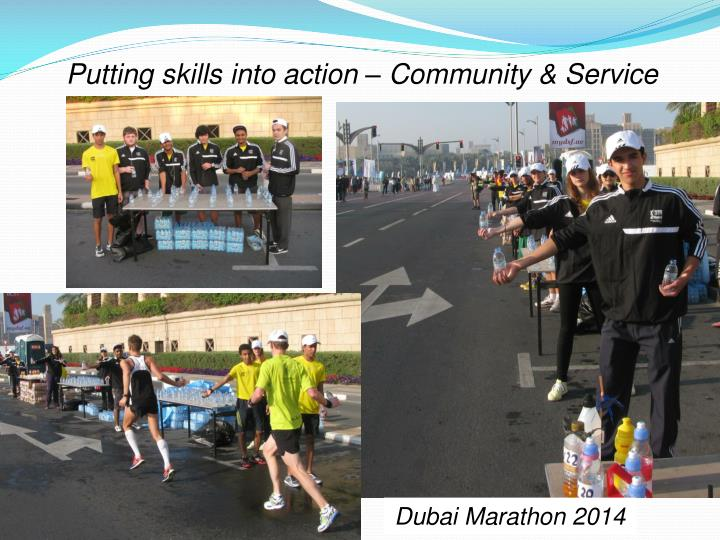 Putting skills into action – Community & Service