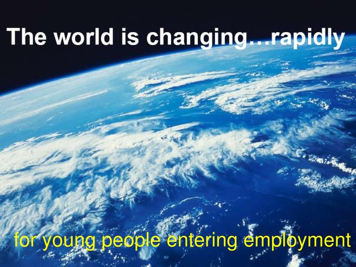for young people entering employment