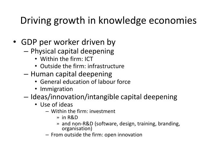 Driving growth in knowledge economies