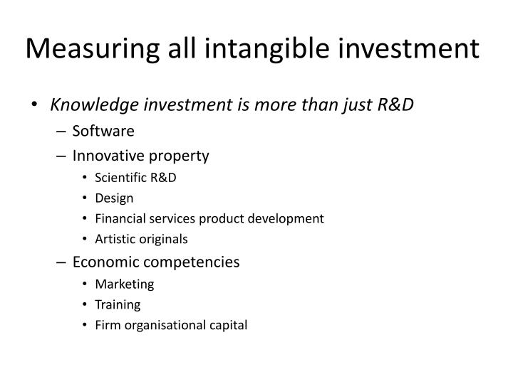Measuring all intangible investment