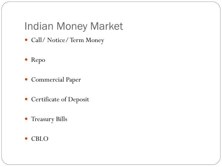 Indian Money Market