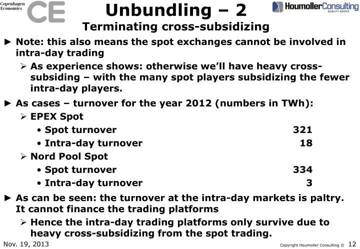 Unbundling – 2