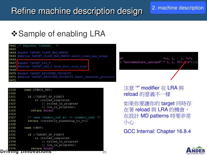 2. machine description