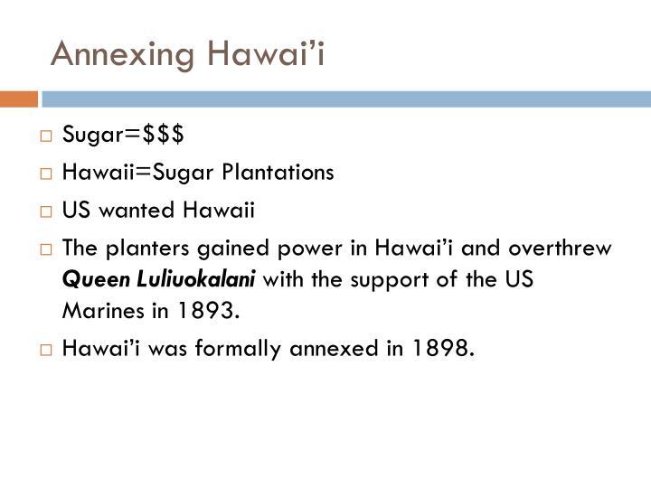 Annexing Hawai'i