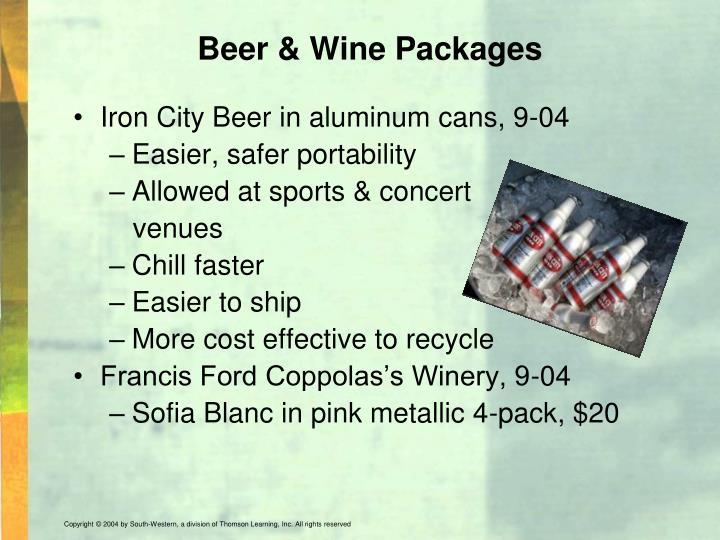 Beer & Wine Packages