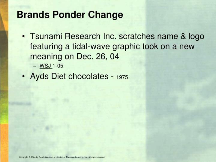 Brands Ponder Change
