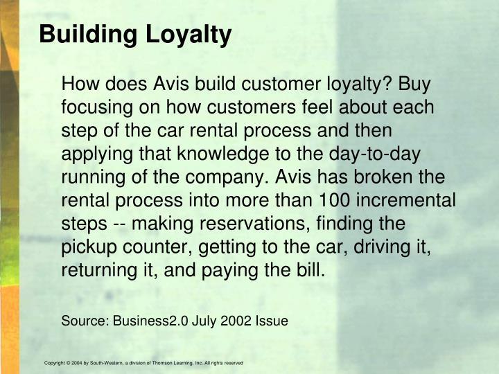 Building Loyalty