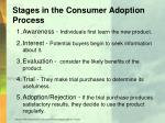 stages in the consumer adoption process