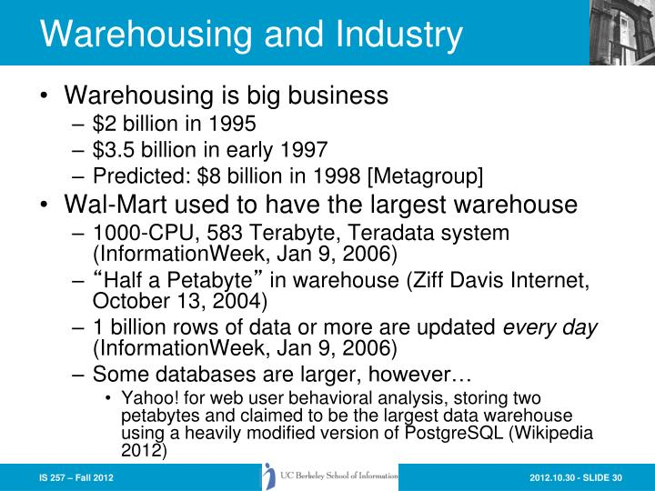 Warehousing and Industry