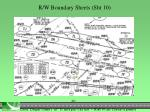r w boundary sheets sht 101