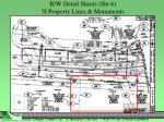r w detail sheets sht 6 5i property lines monuments