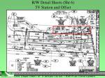 r w detail sheets sht 6 5v station and offset