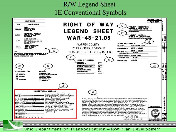 R/W Legend Sheet
