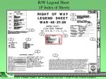 r w legend sheet 1f index of sheets