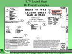 r w legend sheet 1g project description