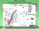 r w property map 3g proposed right of way pavement