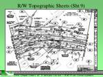r w topographic sheets sht 9