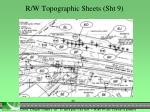 r w topographic sheets sht 91